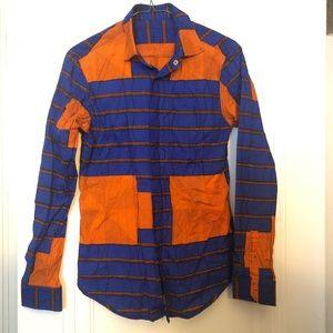 Tops - Custom African Print Button Down Shirt